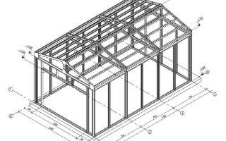 Как построить гараж из профильной трубы?