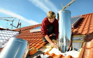 Особенности монтажа и применения дымоходов, выполненных из металлической трубы своими руками