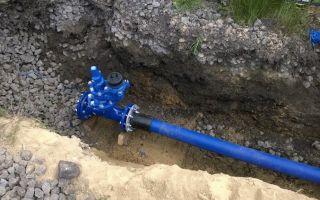 Прокладка и монтаж водопроводной трубы пнд в земле закрытым способом