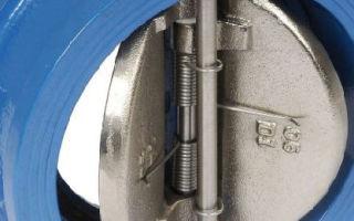 Назначение и применение обратных межфланцевых клапанов