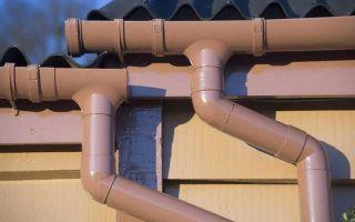 Применение пластиковых труб для организации водосточных систем