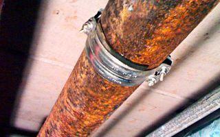 Как устранить свищ в металлической или пластиковой трубе