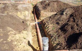 Технология и особенности прокладки канализационных труб в земле