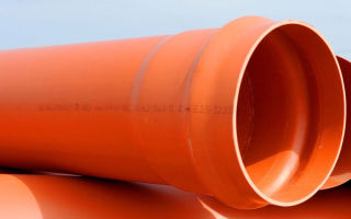 Труба нпвх для обустройства наружной канализации