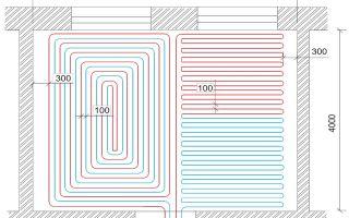 Как рассчитать расстояние между трубами и их количество при монтаже теплого пола