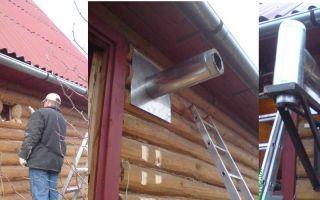 Как самостоятельно соорудить дымоход в бане с выходом через стену?