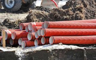 Канализационные гофрированные трубы для обустройства наружной канализационной системы