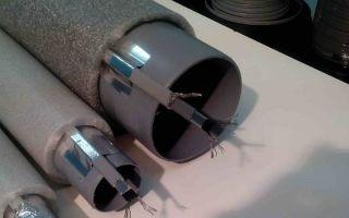 Обогрев канализационных труб греющим кабелем для защиты от промерзания