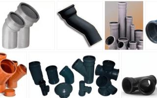 Переходники канализационные для монтажа труб из разных материалов