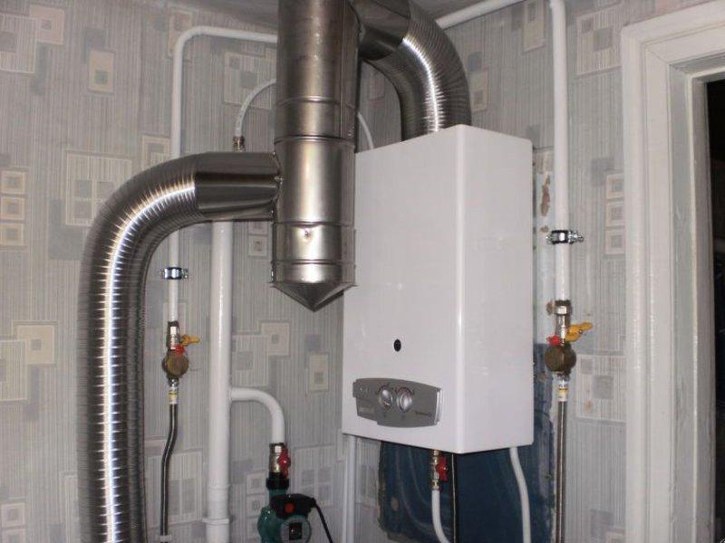 Дымоход для газовой колонки в доме – выбор и установка
