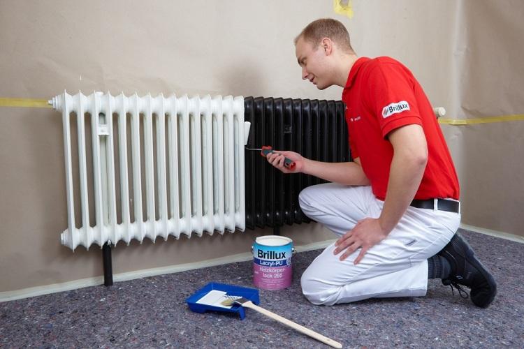 Какая краска подходит для окрашивания радиаторов отопления?