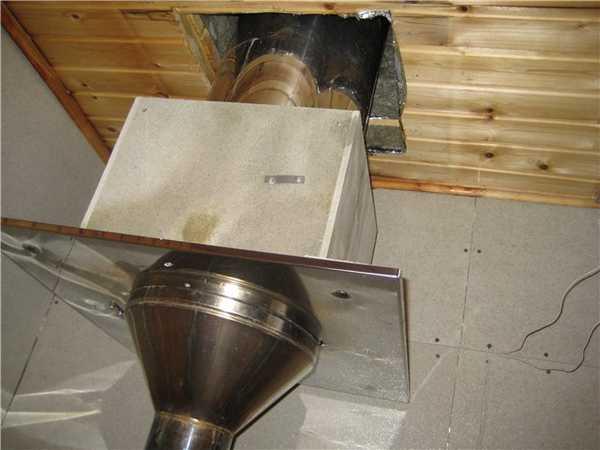 Потолочно проходной узел дымохода - Всё о бане