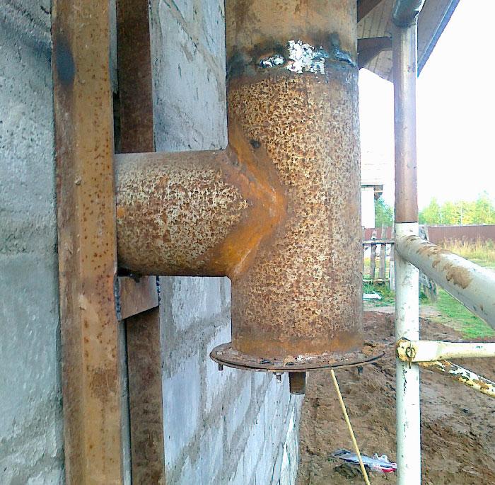 Труба для дымохода из железной трубы