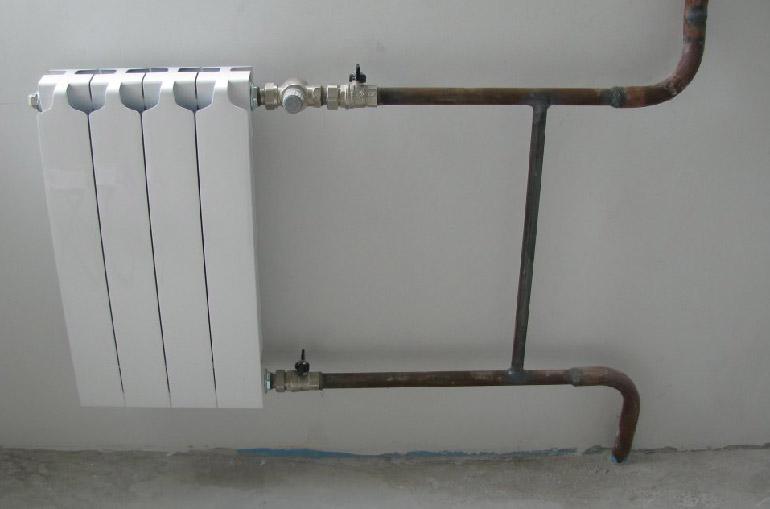 Система отопления из труб без радиаторов